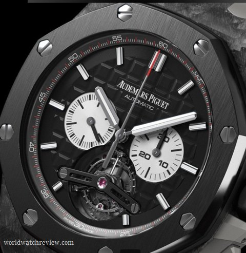 Audemars Piguet Royal Oak Offshore Tourbillon Automatic Chronograph Watch in Forged Carbon and Ceramics (Ref. 26550AU.OO.A002CA.01)