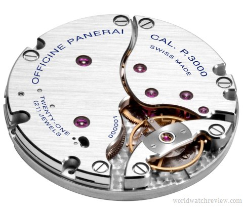 Panerai calibre P.3000 hand-wound movement