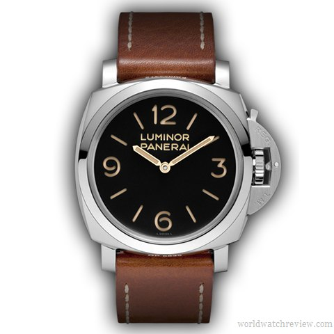 Panerai Luminor 1950 3 Days PAM 372 hand-wound watch (front view)