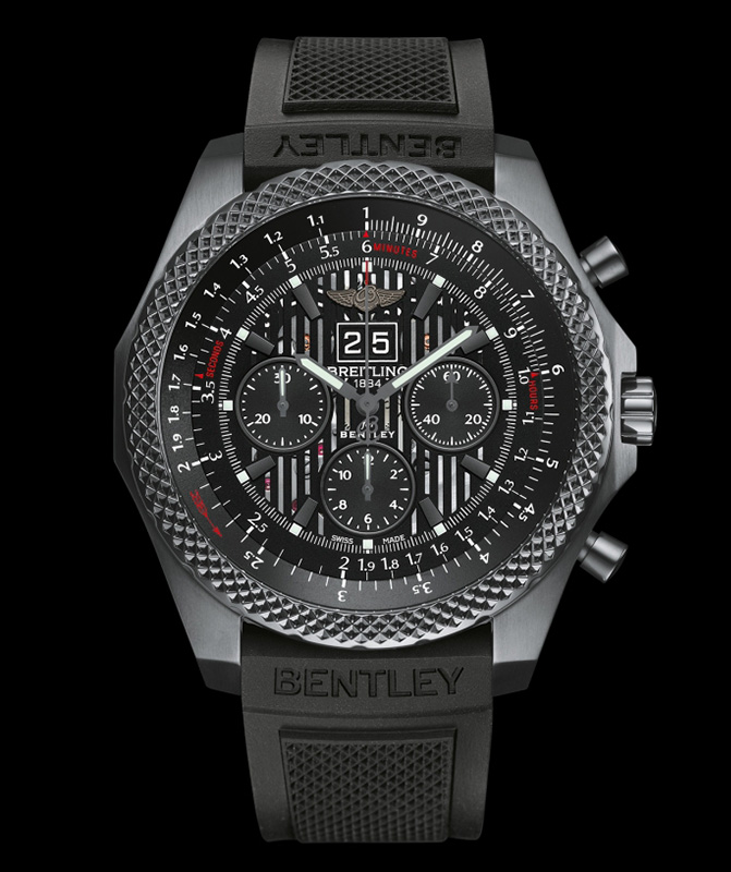 Breitling for Bentley 6.75 Midnight Carbon Watch Front