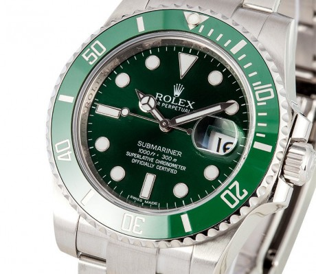 Rolex Submariner series 116610LV-97200 green plate replica
