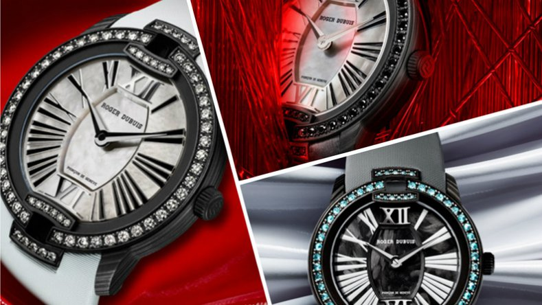 SIHH 2016 Roger Dubuis Black Velvet Paraíba Replica Watch for Ladies