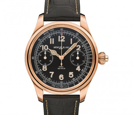 Swiss Made Rose Gold Montblanc 1858 Tachymeter Chronograph Replica Watch