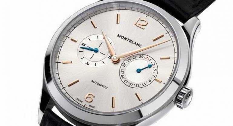 Best Quality Montblanc Heritage Chronométrie Twincounter Date Steel Replica Watch