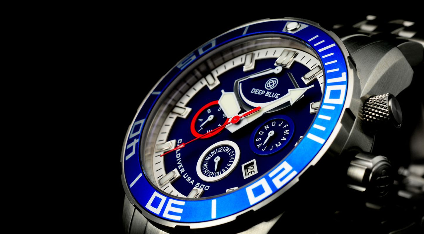Cool Fake Deep Blue CalDiver USA 500 Diver Automatic Watch For Men