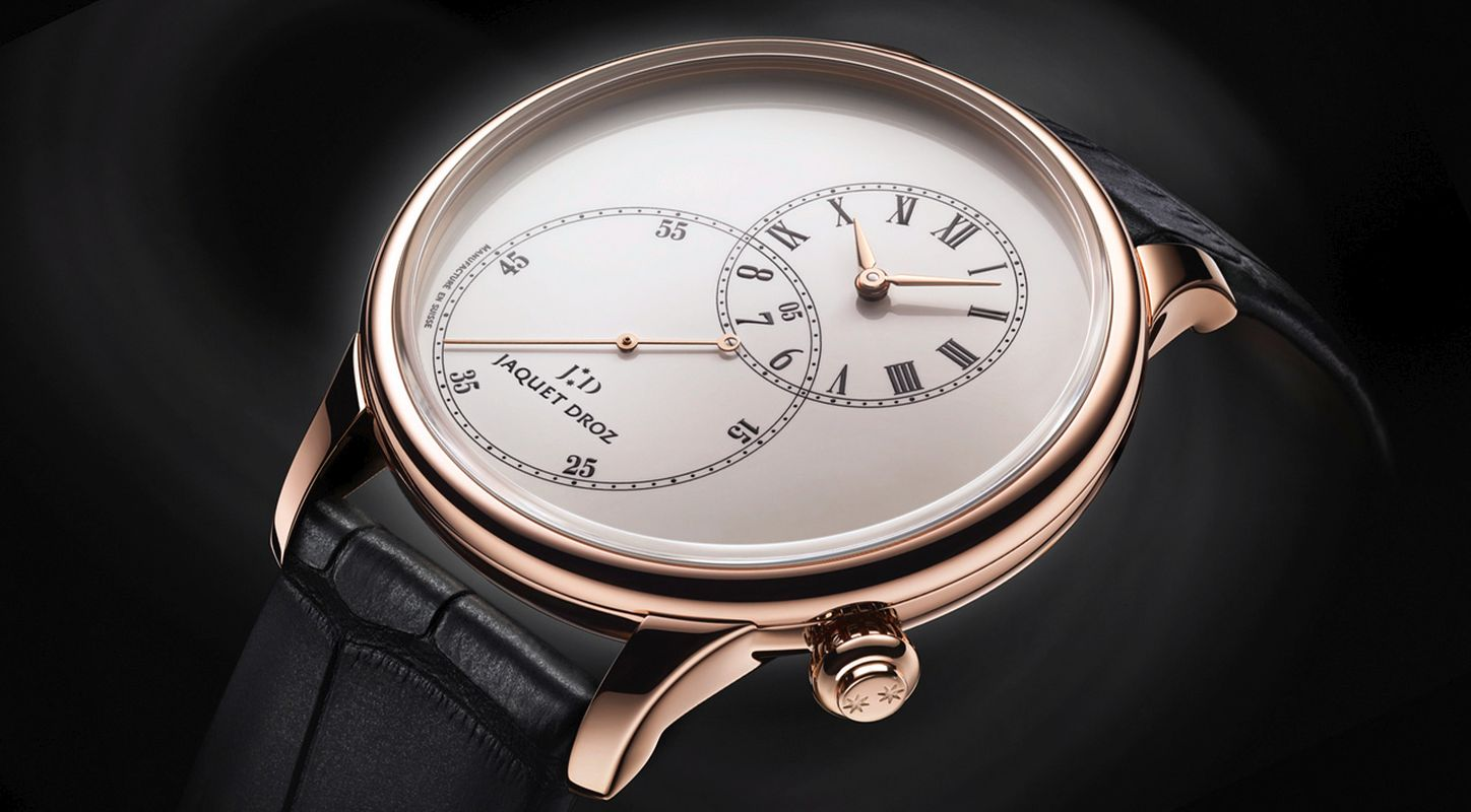 Swiss Ultra Thin Jaquet Droz Grande Seconde Ivory Enamel Dial Watch Replica