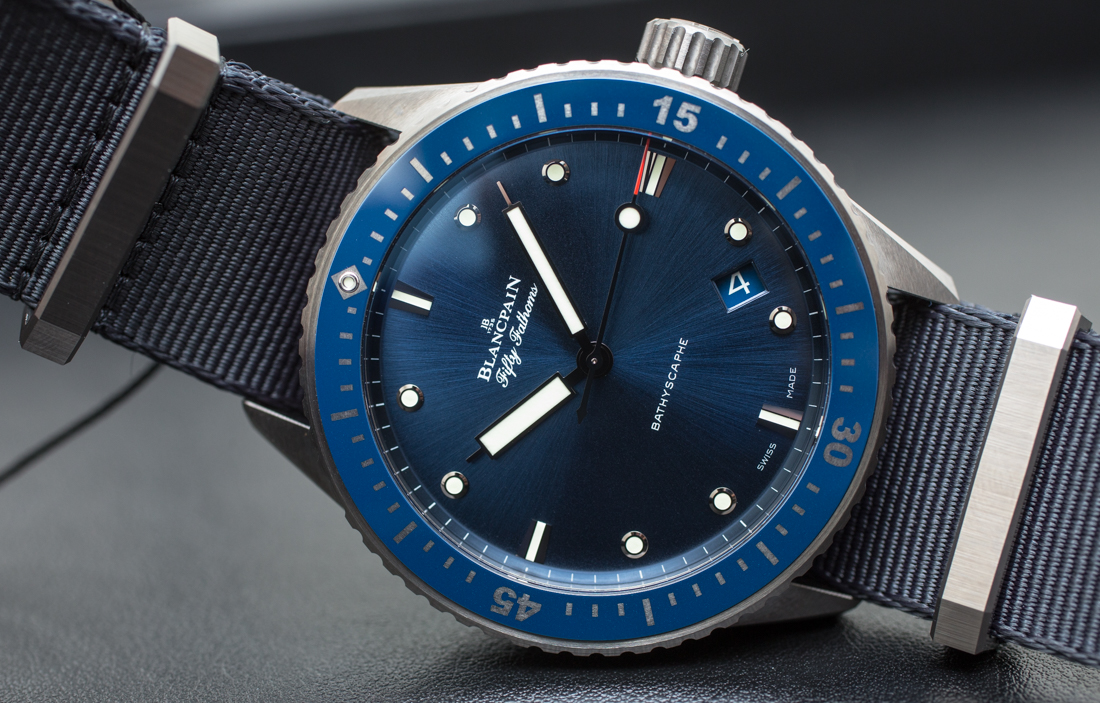 Blancpain Fifty Fathoms Bathyscaphe Blue & Ceramic Watch Hands-On Hands-On