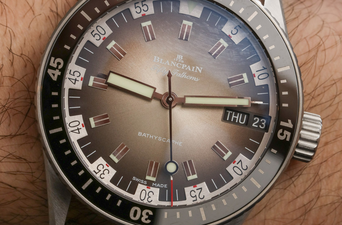 Blancpain Fifty Fathoms Bathyscaphe Day Date 70s Hands-On Hands-On