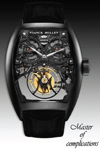 Choose The Cheap Tonneau Shape Franck Muller Tourbillon Skeleton Dial Watch for Men