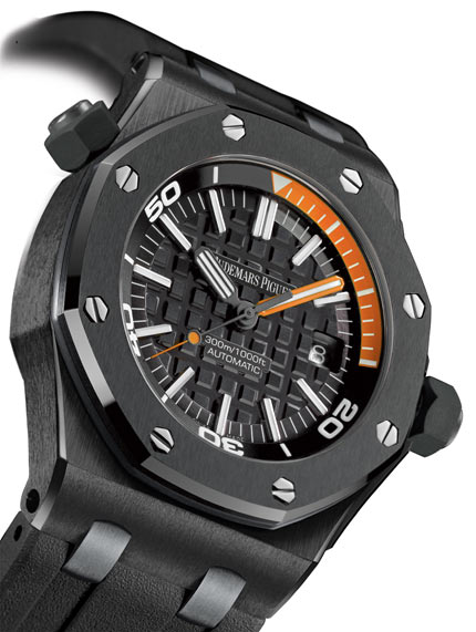 Black Ceramic Audemars Piguet Royal Oak Offshore Diver Replica Watch Ref.15707CE.OO.A002CA.01