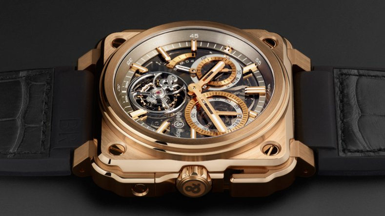 This Luxury Bell & Ross BR-X1 Tourbillon Chronograph Skeleton Men's Watch