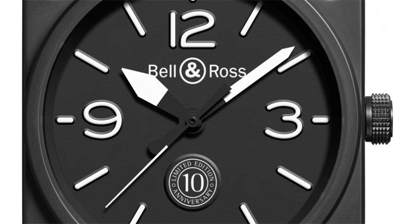 Simple Style Bell & Ross BR 01 10th Anniversary Aviation Watch