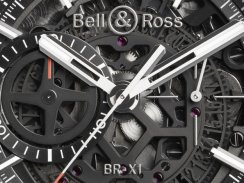 Carbon Fiber Bell & Ross BR-X1 Skeleton Chronograph Copy Watch for Men