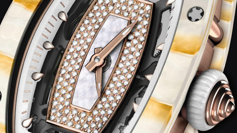 Diamonds Dozens of Gold Leaf Layers Richard Mille RM 07-01 Ladies Watch