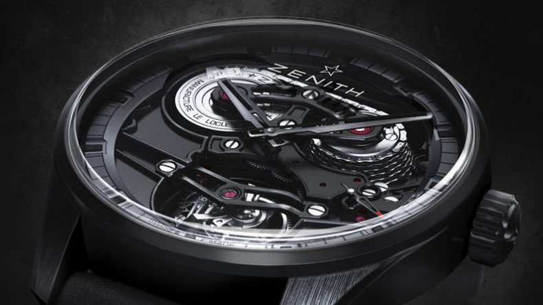Reviewing The Mens Zenith Academy Tourbillon Georges Favre-Jacot (GFJ) Skeleton Black PVD Watch
