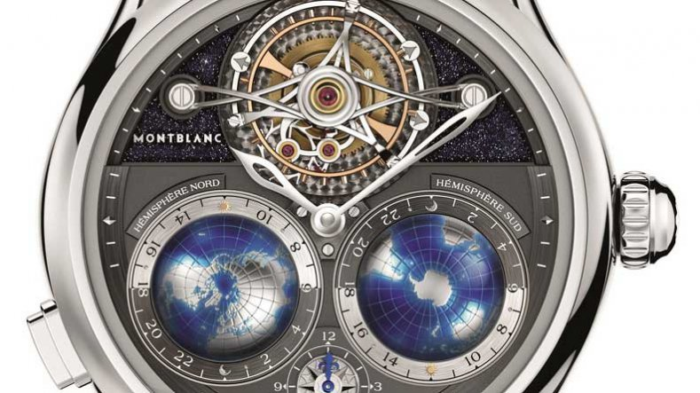 Hand-on Montblanc Tourbillon Cylindrique Replica Cylindrique NightSky Geosphères Watch